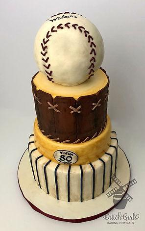 vintage baseball cake