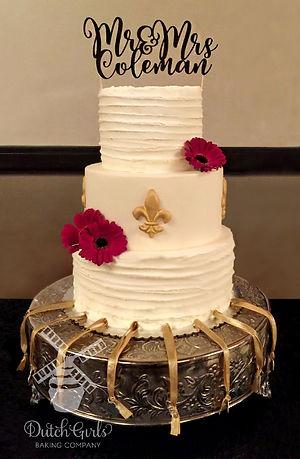 Fleur de lis wedding cake pulls