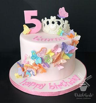 butterflies birthday cake