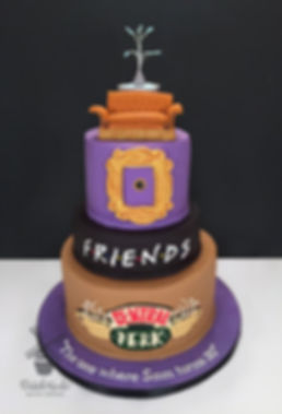Friends TV show birthday cake