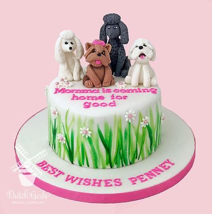 Dog lovers Retirement Cake