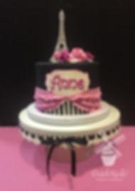 Paris Birthday cake