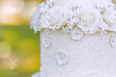 close up wedding cake