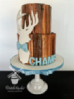 Little man deer baby shower cake