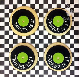 Record Birthday Cookies