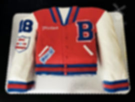 Letterman Jacket Graduation Cake Beyer High School