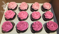 pink ombre rose cupcakes