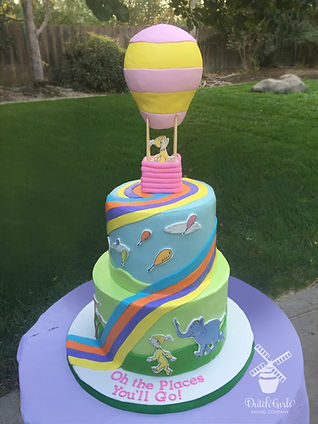 Dr Suess Oh the Places You'll Go Cake