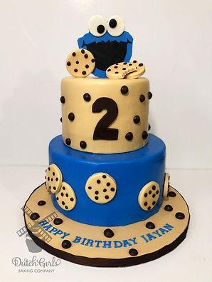 Cookie Monster Birthday Cake