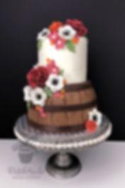 fall wine barrel cake