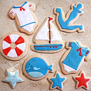 modesto baby shower custom cookies