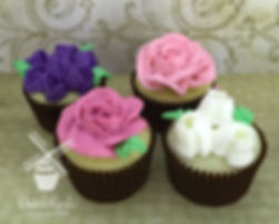 Tulp and Rose cupcakes