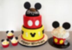 mickey mouse birthday cake smash cake cupcakes