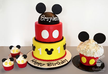 mickey mouse birthday cake smash cake cupcakes