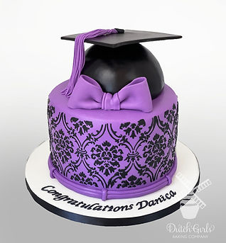 Purple Graduation Cake