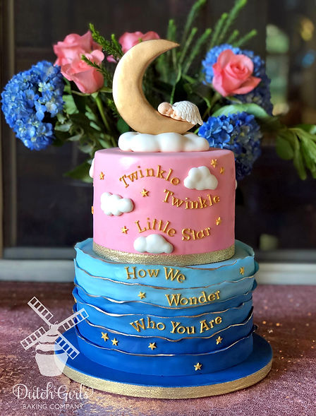 Twinkle Little Star Gender Reveal Cake