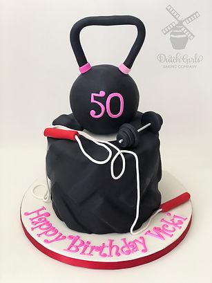 kettle ball tire gym cake