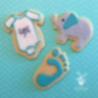 baby shower elephant cookies