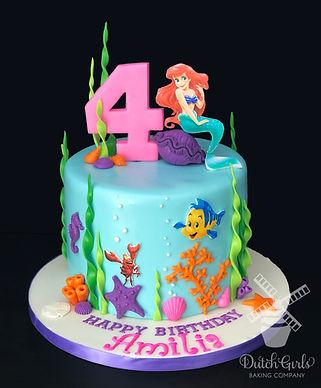 little mermaid birthday cake