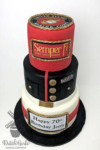 Marines birthday cake