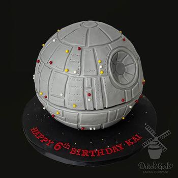 Death Star Birthday cake