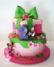Daisy and Minnie cake