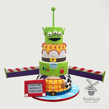 toy story 4 tier birthday cake