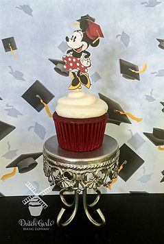 Minnie Mouse Graduation Cupcakes