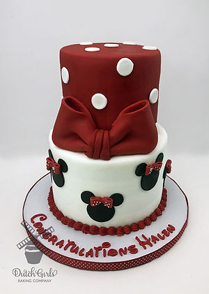 Minnie Mouse Congratulations Cake