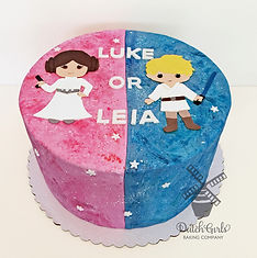 Star Wars Luke or Leia Gender Reveal cake