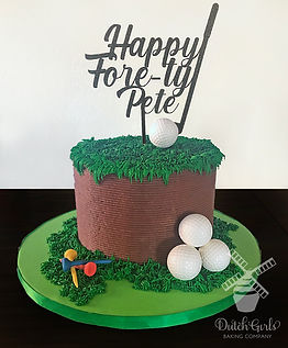 Fore-ty Golf birthday cake