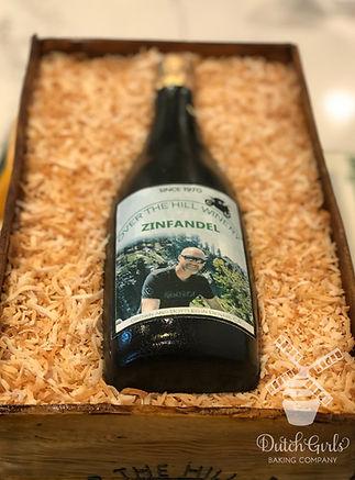 gumpaste wine bottle