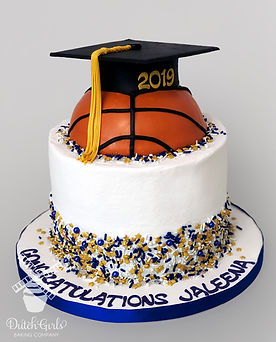 Basketball Graduation cake