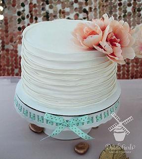 White ruffle cake Modesto