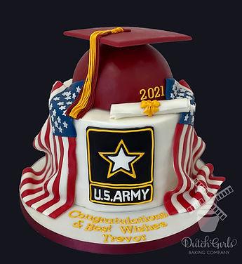 Graduation cake Army