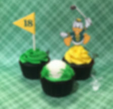 Oregon Ducks Golf cupcakes
