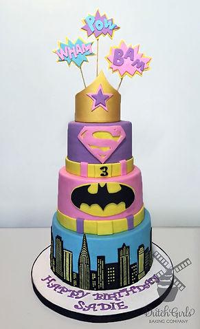 superhero girl birthday cake