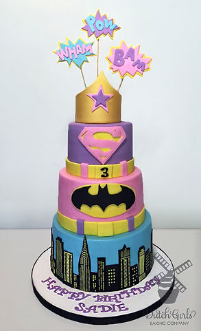superhero girl birthday cake