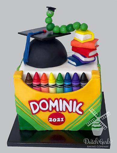 Kindergarten Graduation Cake Crayons