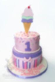 Ice Cream Sundae Birthday Cake