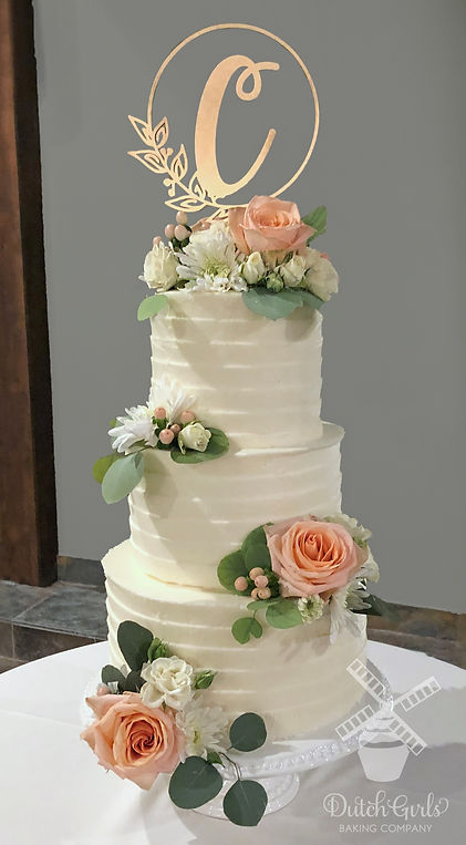 3 tier with eucalyptus
