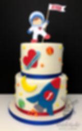 astronaut spaceship rocket birthay cake