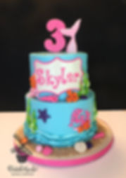 Under the sea mermaid birthday cake