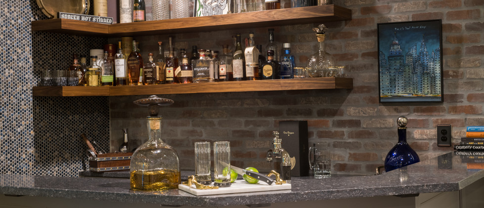 Sandy Springs home - basement lounge bar