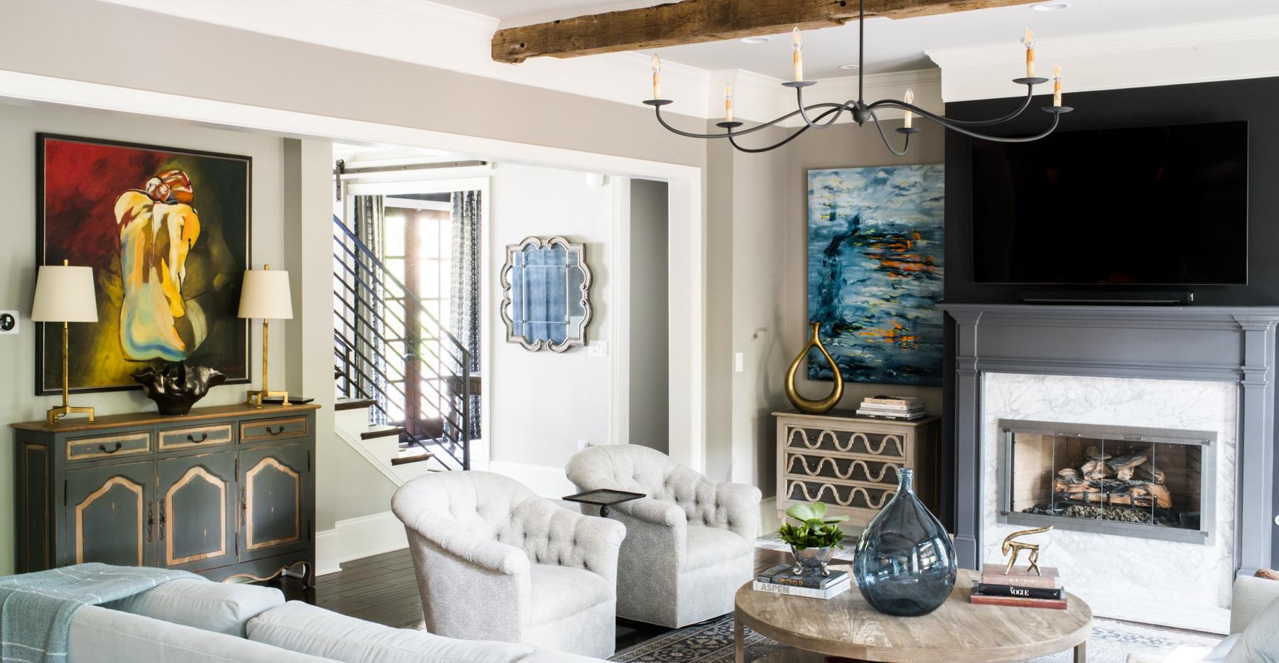 Sandy Springs home - living room
