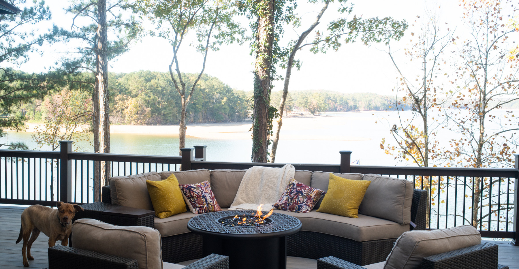 Lake house lower deck