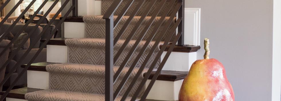 Sandy Springs home - custom staircase