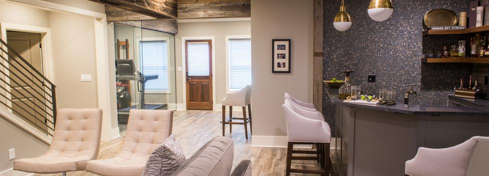 Sandy Springs home - basement lounge