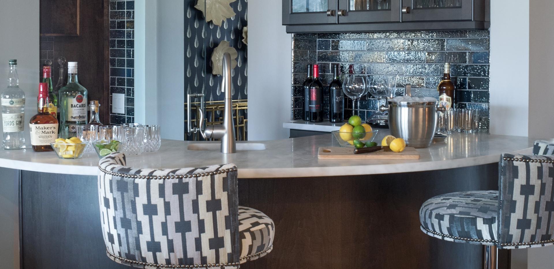 Milton main floor wine tasting bar