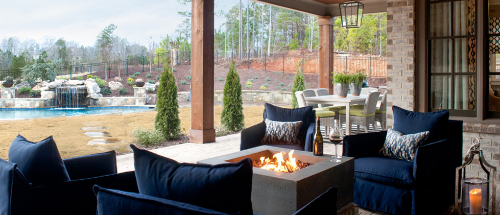 Milton covered outdoor sitting area